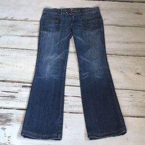 7 For All Mankind Utility Jeans Zipper Bootcut 30